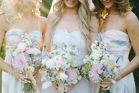 watercolor bridesmaid dresses