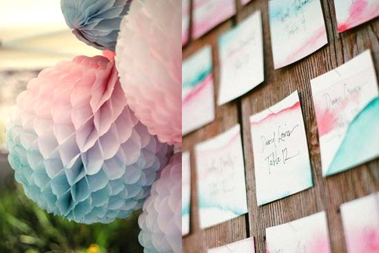 watercolor wedding decorations