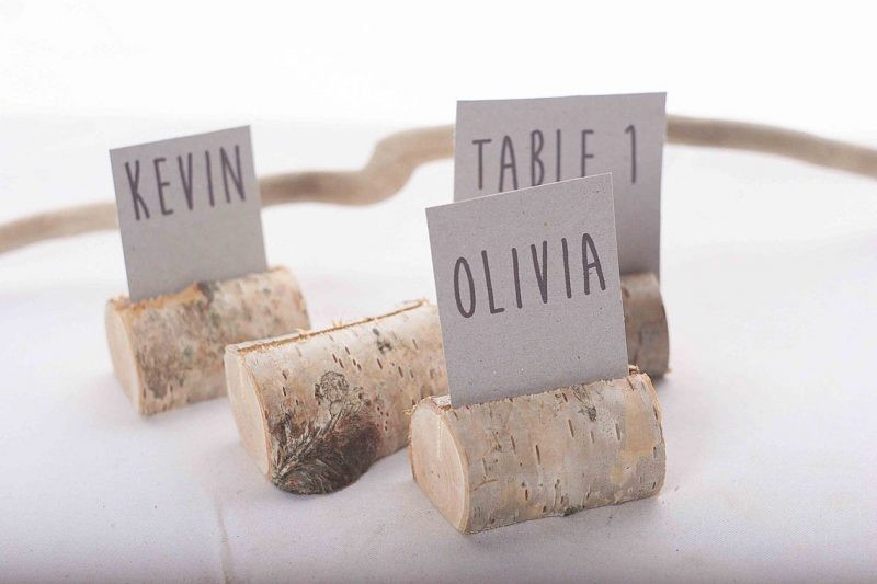 125 pieces rustic birch place card holders Wedding card image 0
